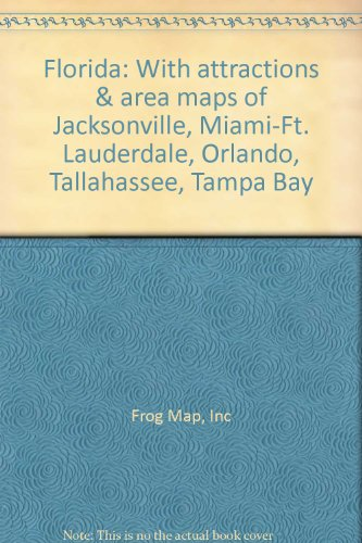 Tampa Bay Area Map - Florida: With attractions & area maps of Jacksonville, Miami-Ft. Lauderdale, Orlando, Tallahassee, Tampa Bay