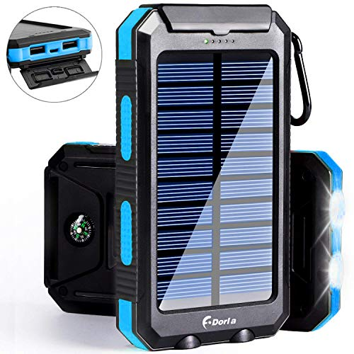 Solar Charger, 20000mAh Solar Power Bank Portable Chargers f