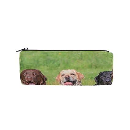 ccb1d6472f1b0 Pencil Case Funny Labrador Retriever School Pen Pouch Office Zippered  Pencil Cases Holder Women Makeup Bag