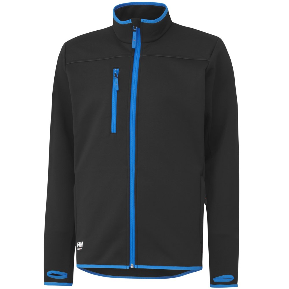 Helly Hansen Workwear Fleece Jacke Seattle Power Stretch FZ 75120 990 3XL, schwarz, 34-075120-990-3XL