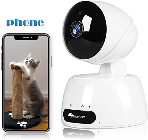 Baby Monitor Camera, 1080P Pet Dog Camera with Phone App Speaker, Nanny Camera, WiFi Home Security Camera Indoor Surveillance Camera with Motion Detection, 2-Way Audio, Night Vision, Cloud, Alexa