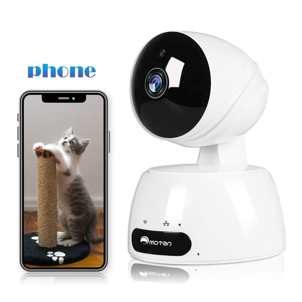 WiFi Camera Home Security Camera 1080P Indoor Camera IP Nanny Camera Pet Surveillance WiFi Dog Home Camera with App for Phone, Night Vision, Baby Monitor Detection, 2 Way Audio, Cloud, Work with Alexa