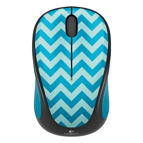 Adorable Mouse - Logitech M317C 910-004508 Wireless Scroll Mouse - Teal Chevron