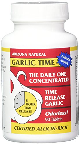 Arizona Natural Garlic TR 1800 mg Time-Released Tabs, 90 Count ()