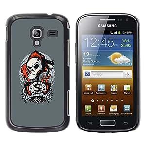 CASECO - Samsung Galaxy Ace 2 - Punk Grim Reaper - Delgado Negro Plástico caso cubierta Shell Armor Funda Case Cover - Punk Parca