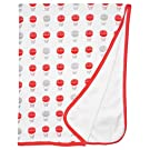 L'ovedbaby Unisex-Baby Newborn Organic Swaddling Blanket (Red Hot Air Balloons)
