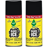 2-Pack Little Tree in a CAN Car Air Freshener 2.5 oz Aerosol Spray, Black Ice Scent