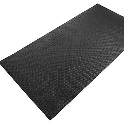 XtremepowerUS Heavy Duty Diamond Treadmill Mat, 7.8' x 3.8'