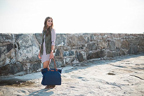 Sarah Wells ''Abby'' Breast Pump Bag, Real Leather Straps (Navy) by Sarah Wells (Image #8)