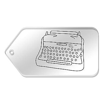 Azeeda 10 x Grande Máquina de Escribir Etiquetas claras de 99 mm x 51