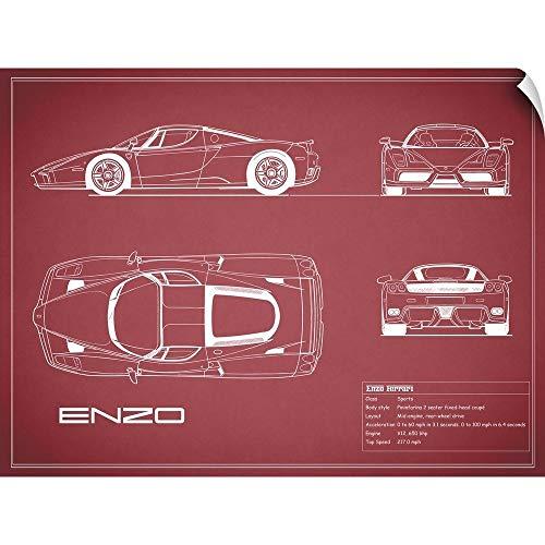 CANVAS ON DEMAND Ferrari Enzo - Maroon Wall Peel Art Print, 40