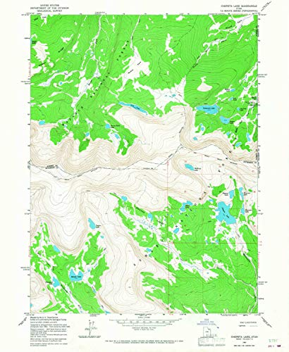 ake UT topo map, 1:24000 Scale, 7.5 X 7.5 Minute, Historical, 1965, Updated 1967, 26.9 x 22 in - Paper ()