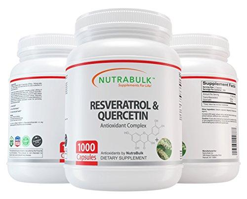 NutraBulk Resveratrol 250mg / Quercetin 120mg Capusules 1000 Count by NutraBulk