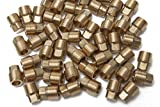 Generic Brass Pipe Square Head Plug Fittings 1/4'' Male NPT Air Fuel Water Boat(Pack of 50)