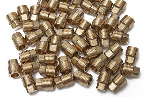 Generic Brass Pipe Square Head Plug Fittings 1/4'' Male NPT Air Fuel Water Boat(Pack of 50) by Generic