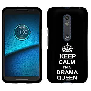 Motorola Droid Maxx 2 Case, Snap On Cover by Trek KEEP CALM and Drama Queen on Black Case