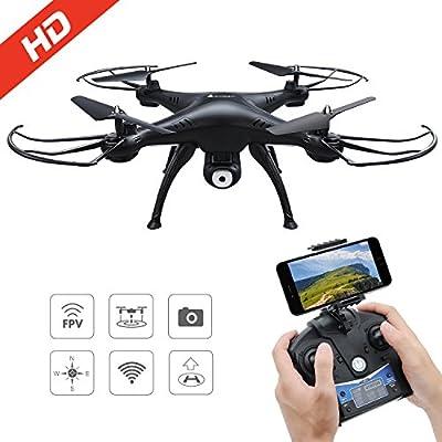 Drone con Cámara 720P HD con WiFi FPV Hover Drone Adjustable ...