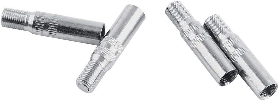 Adaptador de extensi/ón de la tapa de la v/álvula de 4 piezas Metal Tapas de v/álvula de la rueda automotriz Extensiones de v/ástago Extensor