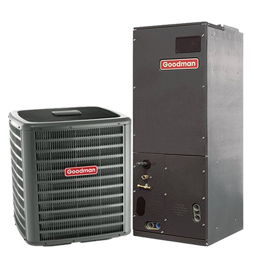 Goodman 1.5 Ton 14 SEER Heat Pump System with Multi-Position Air Handler GSZ140181 ARUF25B14