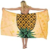 AMERICAN TANG Upside Down Pineapple Chiffon Scarf Beach Cover up Sarong Wrap gift for women