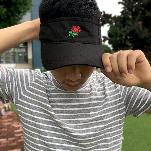 8094b1f2c1db3 Jinniee Sun Visor Unisex 100% Cotton Best Visors Cap Small Embroidery  Summer Cap