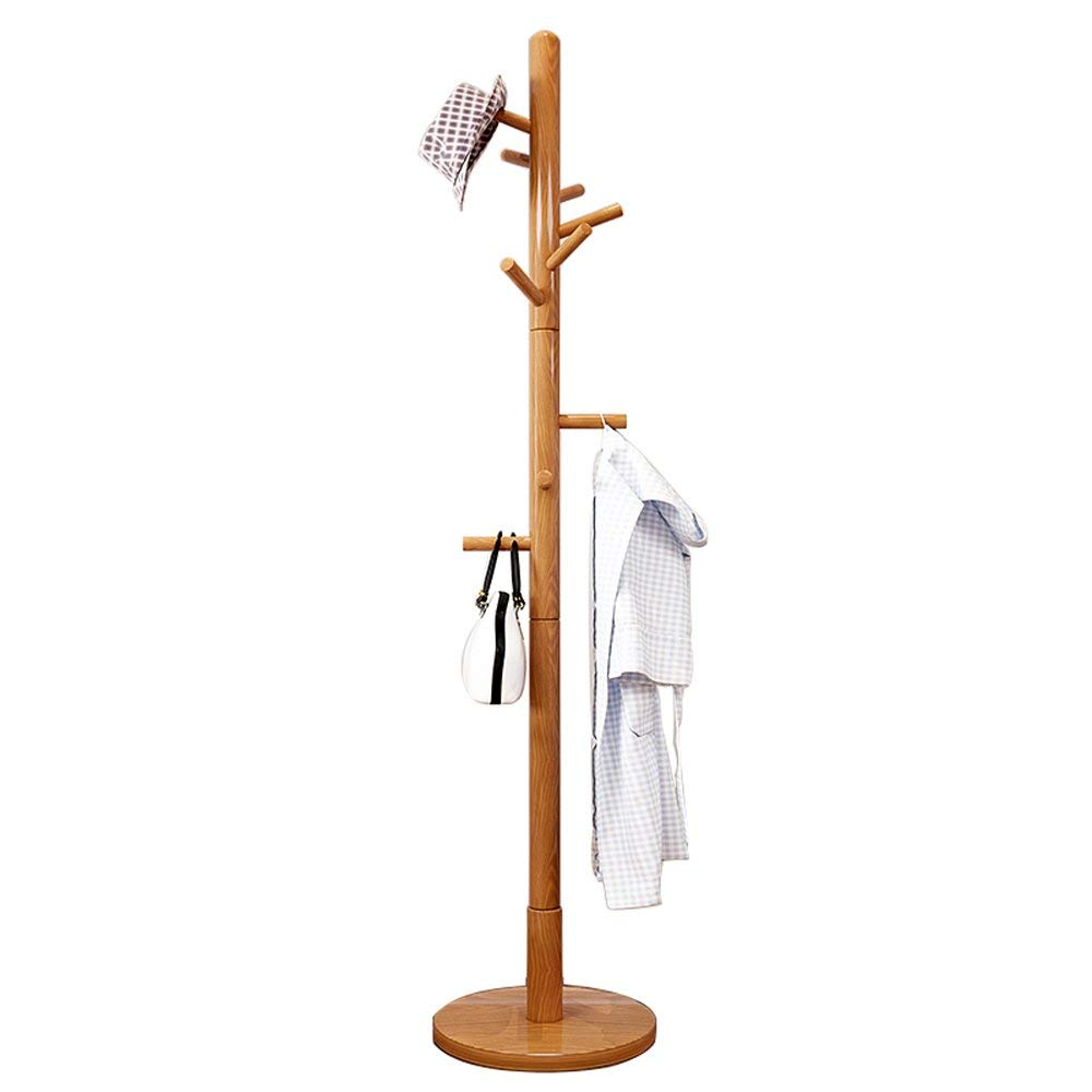 Amazon.com: Household Coat Rack oatrack Solid Wood Coat Rack ...