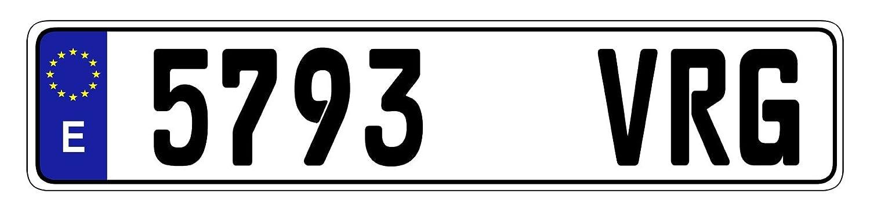 Random Spain Eurosport Daytona Authentic 21 EEC European License Plate