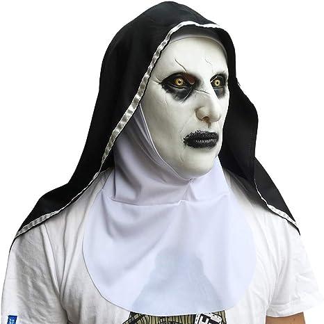 ASUD Máscara de monjas, Máscara de Resplandor de Halloween ...