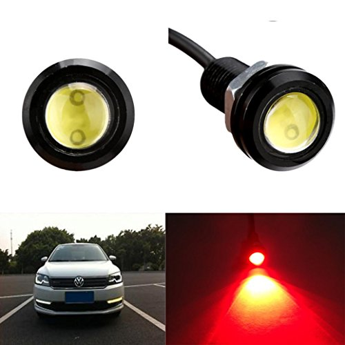 (Glumes Eagle Eye Led Lights, 1PC 9W Eagle Eye Led Bulb Motorcycle Light Daytime Running DRL Tail Backup Light Car Motor Clearance Marker Lights (Red))