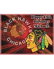 """Single Source Party Supply - Chicago Blackhawks Edible Icing Image #1-8.0"""" x 10.5"""""""