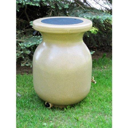 Koolscapes 50-Gallon Sandstone-Look Decorative Rain Barrel