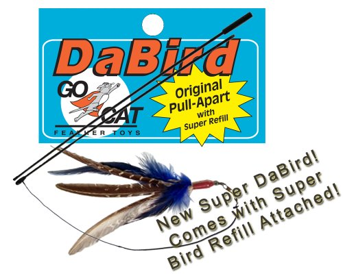 New Super Da Bird with Pull-Apart Rod – Interactive Feather Cat Toy, My Pet Supplies