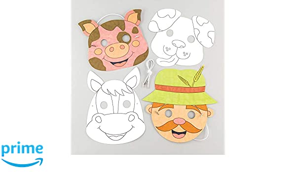 Baker Ross- Kits de caretas de animales de la granja para ...