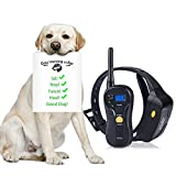 Pethree Dog Training Collar ,Rechargeable and Waterproof ,660yd Remote Dog Shock Collar with Beep ,Vibration ,Shock Electronic Collar for All Size Dogs (10Lbs - 100Lbs)