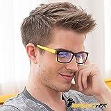HornetTek YEL107 Computer & Gaming Glasses with Blue Light Protection & UV Filter Eyewear Light Weight Frame Crystal Lens by HornetTek
