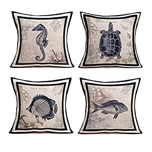 51GGMUtl8BL._SS300_ 100+ Nautical Pillows & Nautical Pillow Covers