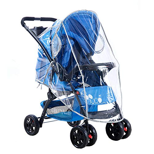 Universal Waterproof Baby Pushchair Rain Cover for Stroller Waterproof Windproof Dust Snow Weather Transparent Baby Carriage Cover
