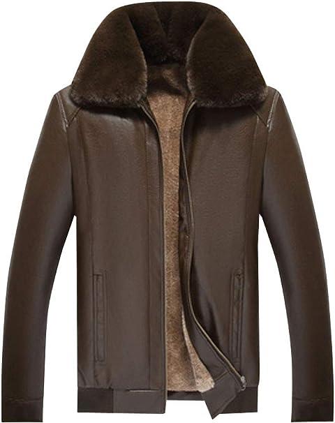 [ネルロッソ] 革ジャン ブルゾン メンズ puレザー 裏起毛 裏ボア ジャンパー スタジャン 大きいサイズ 正規品 cme24511