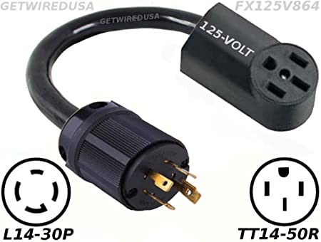 US Sale 10-50P 125//250V Dryer Power Plug For RV /& Generator Locking Plug 3 Prong