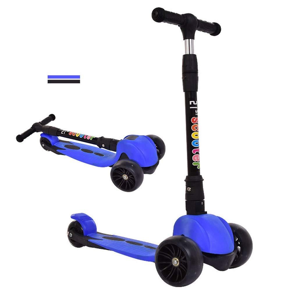 Runplayer : 子供のフラッシュ三輪スクーター、高さ調節可能 Blue、折りたたみ式、持ち運びが簡単、子供の贈り物に最適 ( Color Color : Blue ) B07R3BV5SK, 粂治郎:ca440ae3 --- bintelleapps.com