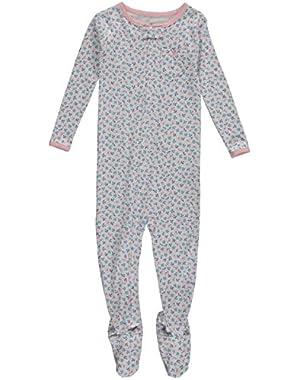 Carters Baby Girls 1-Piece Snug Fit Cotton PJs Bird Floral 24M