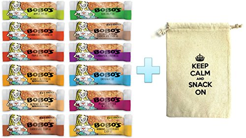 Bobos Oat Bars All Natural, Gluten Free, All 12 Flavors Variety, 3 oz Bars, Pack of 12 (1 Each 12 Flavors)