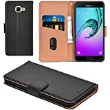 Galaxy A5 2016 Case, Aicoco Flip Cover Leather, Phone Wallet Case for Samsung Galaxy A5 2016 - Black