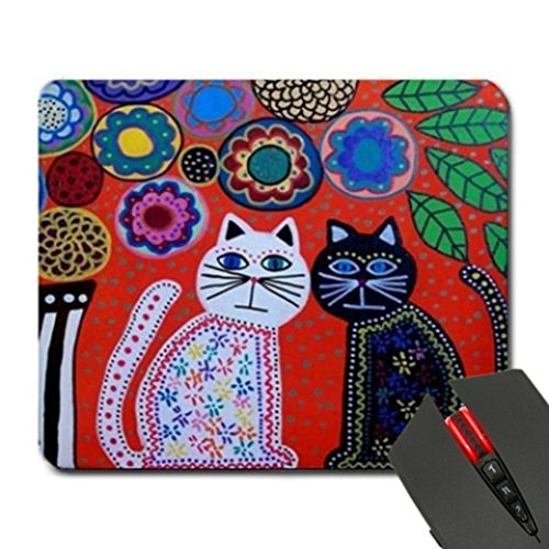 Cats Flowers Sunrise Custom Design Cool Gaming Mousepd Mouse Pad Mat