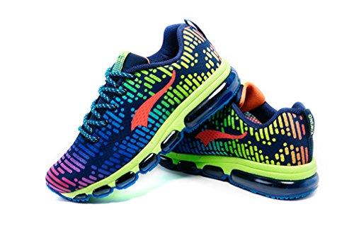 Zapatillas de Running de Purplish Competición Sintético Unisex de Material Green ONEMIX Adultos dqXxSd