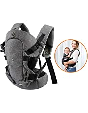 Xatan Baby Convertible Carrier, All Carry Position Newborn to Toddlers Ergonomic Carrier with Soft Breathable Air Mesh and All Adjustable Buckles