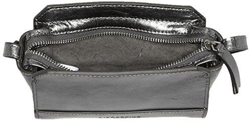 Liebeskind Berlin Hollywood Fameme - Bolsos bandolera Mujer Plateado (Rock Grey Metallic)