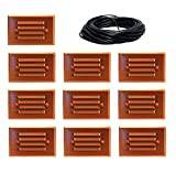 10 Pack Malibu 8421-2401-01 LED Half Brick Deck Step Light Copper + 100 ft landscape wire NO TRANSFORMER INCLUDED. BY MALIBU DISTRIBUTION