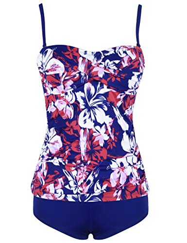 34bc2c3f25709 ninovino Women's Two Piece Swimsuits Tankini Top with Boyshorts Swimwear Set