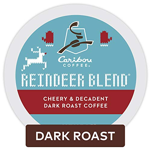 Caribou Coffee Reindeer Blend, Single Serve Coffee K Cup Pod, Dark Roast, 60Count, Reindeer Blend, 60Count